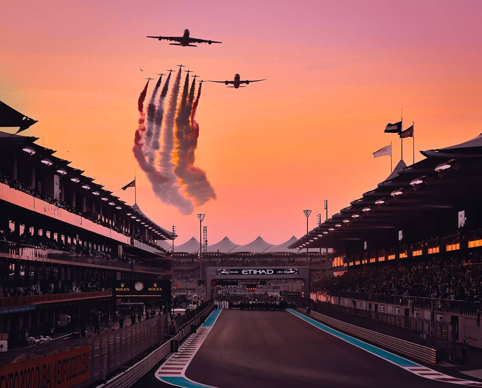 Formule 1 Abu Dhabi & Dubai World Expo