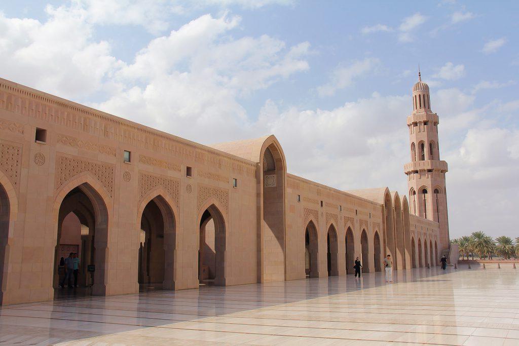 De Sultan Qaboos Grand Mosque in Muscat, Oman